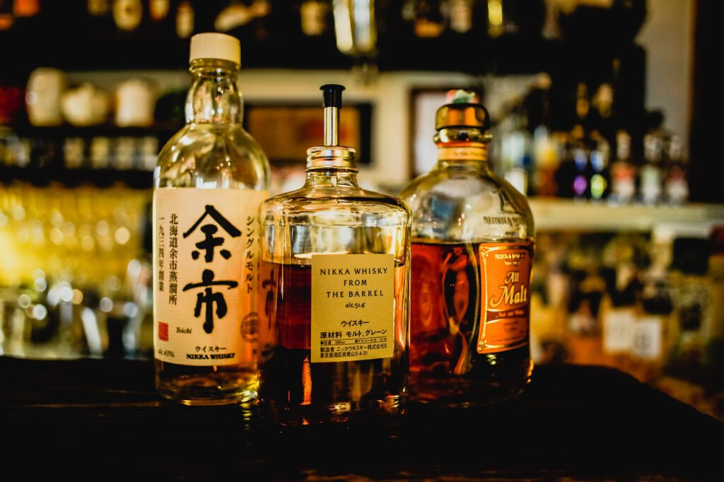 3 lahve whisky nikka včetně nikka from the barrel