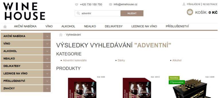 Winehouse.cz představení e-shopu s alkoholem